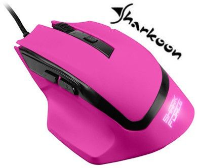 Sharkoon SHARK Force Gaming Optical Mouse: Pink