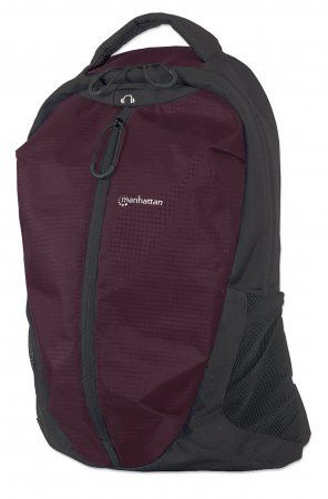 Manhattan 15.6 inch  Airpack Notebook Bag Colour:Black and Plum