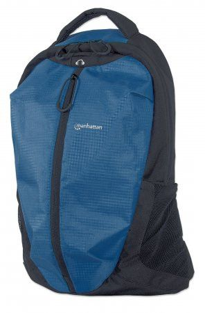 Manhattan 15.6 inch  Airpack Notebook Bag Colour: Black and Blue