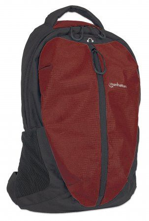 Manhattan 15.6 inch  Airpack Notebook Bag Colour: Black and Red
