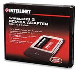 Intellinet Wireless G PC Card -Up to 54 Mbps network data transfer rate-for your Notebook (provides advanced security encryption & decryption ) - Zasttra.com