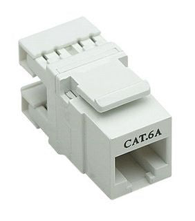 Intellinet 10 Gigabit Cat6A UTP 180 Keystone Jack