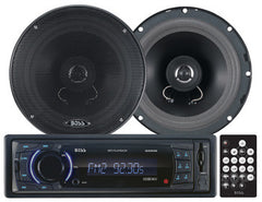 Boss Audio Combo Kit Includes 648UA CD/MP3 AM/FM Receiver With USB and SD