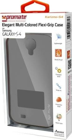 Promate Karizmo-S4 Elegant Flexi-Grip Case for Samsung Galaxy S4-Greyite Retail Box 1 Year Warranty