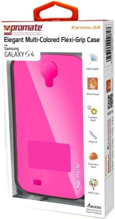Promate Karizmo-S4 Elegant Flexi-Grip Case for Samsung Galaxy S4-Pink Retail Box 1 Year Warranty