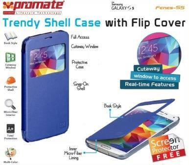 Promate Fenes S5 Bookcover with window Colour:Blue