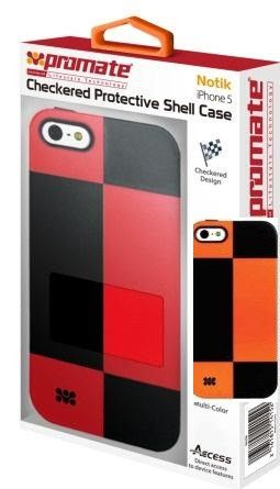 Promate Notik iPhone 5 Checkered Protective Shell Cover Colour: Orange /Black Fashionably aimed