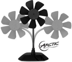 Arctic Breeze USB 92MM Desktop Fan with Flexible Neck and Adjustable Fan Speed Red