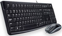 Logitech MK120 Wired USB Desktop Combo - Keyboard & Mouse-Multimedia Shortcut Keys