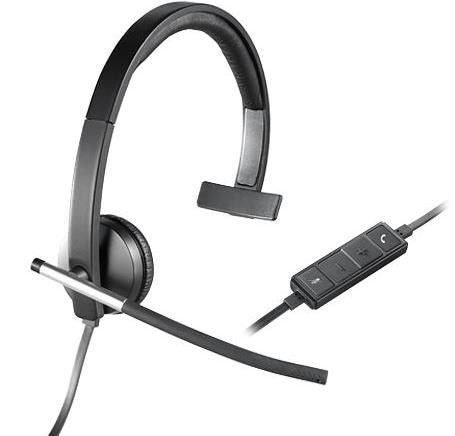 Logitech H650e USB Monaural Headset with flexible Microphone boom -Designed for Business Applications