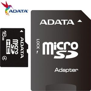 ADATA 16GB Micro SD With SD Adapter Card - CLASS 4