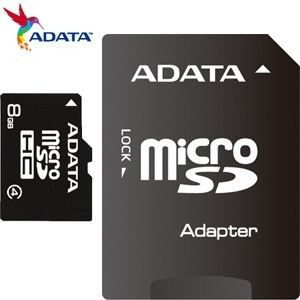 ADATA 8GB Micro SD With SD Adapter Card - CLASS 4
