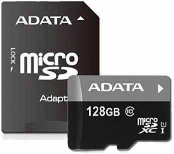 ADATA Premier 128GB microSDXC Memory Card with Adapter
