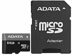 ADATA 64GB Micro SD With SD Adapter Card - CLASS 10