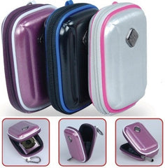 Promate Amba Aluminum Finish Hard Shell Camera Case with Memory Foam Protector Inner Bubble Pad Protector-Purple