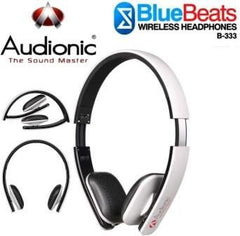 Audionic BlueBeats B-333 Wireless Bluetooth HeadPhones - White/Black