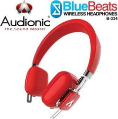Audionic BlueBeats B-334 Wireless Bluetooth HeadPhones - Red