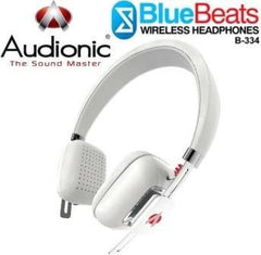 Audionic BlueBeats B-334 Wireless Bluetooth HeadPhones - White