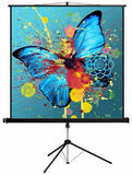 Esquire Tripod Projector Screen - Square format 150 x 150