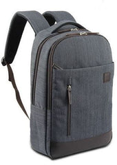 Macaroni Mantica 15.6 inch  Linen Backpack-Grey-Unisex Version