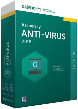 Kaspersky Anti-Virus 2016-3 User DVD