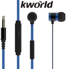 Kworld KW-S18 In-Ear Mobile Gaming Earphones Stereo Silicone Earbuds with In-line intelligent Control Microphone