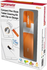 Promate Klipo Compact Pen-Style Tablet Cleaning Kit with Clip-on Design Retail Box 1 Year Warranty