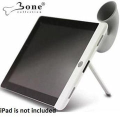 Bone Collection Horn Stand with Sound Amplifier for iPad 2 -Provides Audio amplification up to 15dB without the use of batteries and a stable easy to use stand-Grey