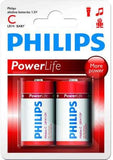Philips PowerLife Battery LR14P2B 2 x Type C / LR14 Alkaline Batteries