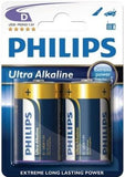Philips Ultra Alkaline Battery LR20E2B 2 x Type D / R20 Ultra Alkaline Battery