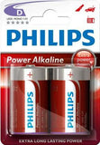 Philips PowerLife Battery LR20P2B 2 X Type D Power Alkaline Batteries
