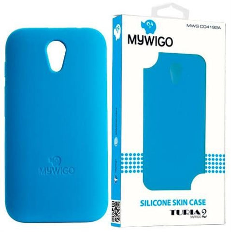 MyWiGo CO4192A Silicon blue bumper for MyWigo Turia 2 - Blue