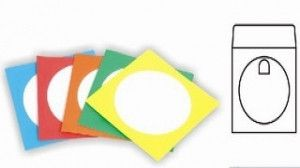 E-Box 100PC Paper Cd Sleeves - Multicolours Paper Sleeves