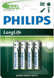 Philips LongLife Battery R03L4B 4 X AAA Zinc Carbon