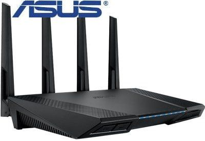 Asus RT-AC87U Wireless-AC2400 Dual Band Gigabit Router-Ultra-fast 802.11ac Wi-Fi router with a combined dual-band data rate of 2334 Mbps for smooth up to 4K/UHD video playback
