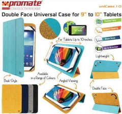 Promate Unicase.10.Orange Double Face Universal Protective Leather Case For 9 To 10 Inches Tablets.