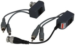 Casey Single Channel CCTV Security Cat5 Power Video Audio Balun Transmitter and Receiver