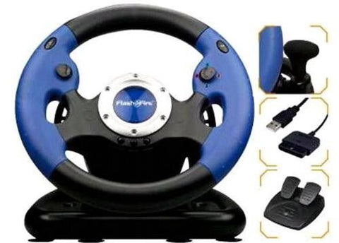 FlashFire 3 in 1 Pro Wheel with Pedals for PS2/PS3/ PC Vibration Feedback