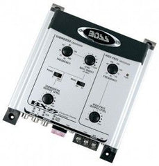 Boss Audio 2-way Electronic Crossover w/Remote level subwoofer control-0 - 12 dB bass boost