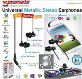Promate EarMate.uni3 Universal Metallic Stereo Earphones for iPhone iPod and iPad 2Dynamic in-ear design with metallic finishComplete noise reduction3.5mm audio jack works with all compatible MP3/MP4 and CD players Retail Box 1 Year Warranty