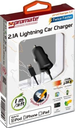 Promate proCharge.LT Multifunction Lightning car charger for iPad4