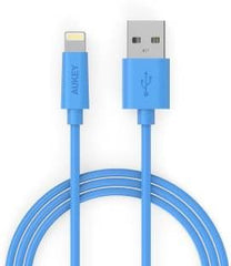 CB-D20 Aukey CB-D20 Apple MFI Certified Lightning to USB Cable (Blue) 1m
