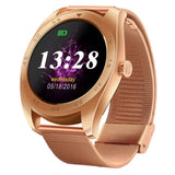 K89 Classic Watch Design Metal Band Bluetooth 4.0 Heart Rate Smart Watch Pedometer / Sedentary Reminder / Sleep Monitor / Remote Capture / Anti-lost (Rose Gold)