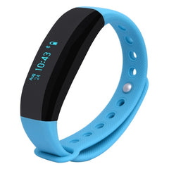 CUBOT V2 Touch Screen Heart Rate Bluetooth Life Waterproof Smart Wristband for iOS / Android Smart Phone Anti-lost / Message Push / Pedometer / Sleep Monitor(Blue)