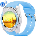 V8 1.22 inch Touch Screen 2G Calling Bluetooth Smart Watch with 0.3MP Camera Support Pedometer / Music Player / Sleep Monitoring / Remote Capture / Anti-lost Function / TF Card(Blue)