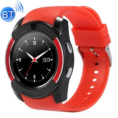 V8 1.22 inch Touch Screen 2G Calling Bluetooth Smart Watch with 0.3MP Camera Support Pedometer / Music Player / Sleep Monitoring / Remote Capture / Anti-lost Function / TF Card(Red)