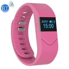M5 0.49 inch OLED Screen Bluetooth Smart Bracelet Support Hear Rate Monitor / Pedometer / Calls to Remind / Sleep Monitoring / Remote Capture(Pink)
