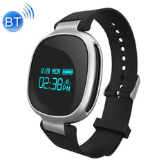 E08 0.96 inch Screen Bluetooth 6-axis Light Sensor Smart Bracelet Support Hear Rate Monitor / Pedometer / Calls to Remind / Sleep Monitoring / Remote Capture / Anti-lost(Black)