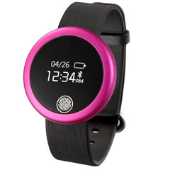 S6 Bluetooth 4.0 IP65 Waterproof Watch Smart Bracelet for iOS / Android Mobile Phone Heart Rate / Anti-lost / Sleep Monitor / Message Push / Pedometer(Magenta)