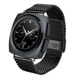 A11 Metal Strap Bluetooth Smart Watch Heart Rate / Pedometer / Sleep Monitor / Sedentary Reminder / Camera Remote Control(Black)